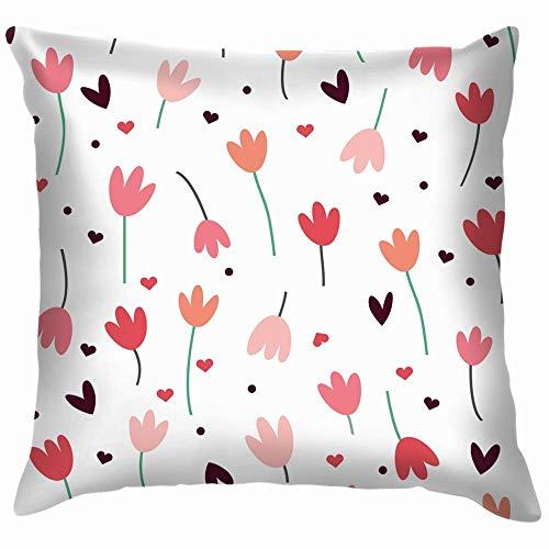 Double Cheese Simple Tulips The Arts Throw Pillow Case Funda de cojín Funda de Almohada Acuarela para sofá