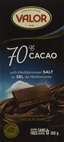 Valor Dark Chocolate Bar with Mediterranean Salt, Dark Chocolate (70%), 100 Grams