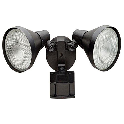 Defiant 180 Degree Black Motion-Sensing Outdoor Security Light DF-5416-BK-A