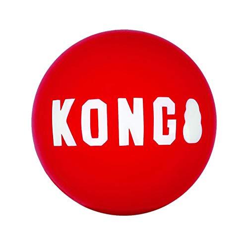 KONG Signature Balls - Juego de 2 Bolas (L, 2 Unidades), Color Rojo
