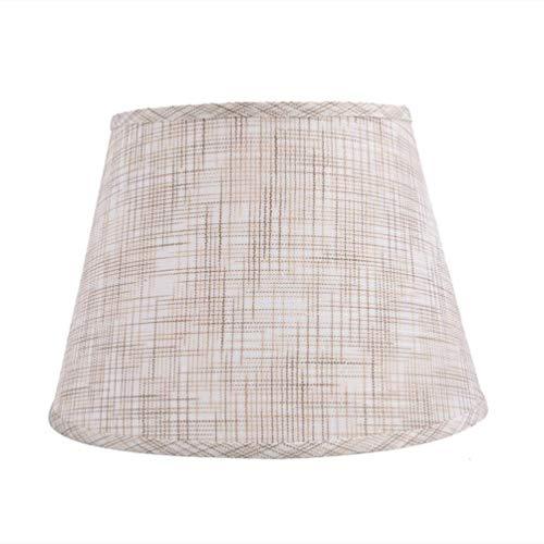 CattleBie Cónico de lino pantalla de la tela, persiana ligero redondo, E27 Pantalla, 100% pura cortina de lámpara de mano Lámpara de cabecera, de techo colgante, lámpara de mesa, Suelo de pantalla, pa