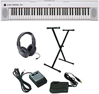 Yamaha Piaggero NP-32 Ultra-Premium Keyboard Package with Headphones, Stand, Sustain Pedal and Power Supply