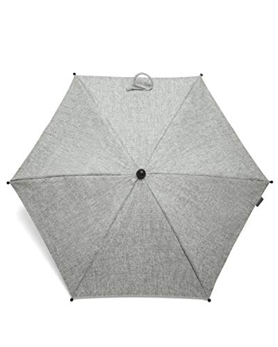 Mamas & Papas Universal Parasol, UPF 50+ Fabric, Easy Fit Clamp and Adjustable, Flexible Arm for Pram/Pushchair/Buggy - Grey Marl