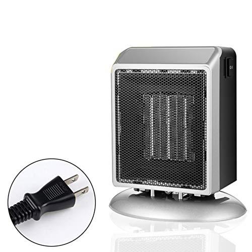 WEQQ Mini Calentadores Calentadores Cuadrados de Escritorio pequeños Calentador de hogar con Ventilador cálido y Caliente de Velocidad (silverJapan)