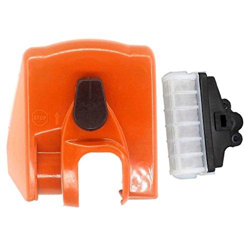 AISEN Luftfilterabdeckung Deckel mit Luftfilter für STIHL 021 023 025 MS250 MS250C MS230 MS230C MS210 MS210C Kettensäge