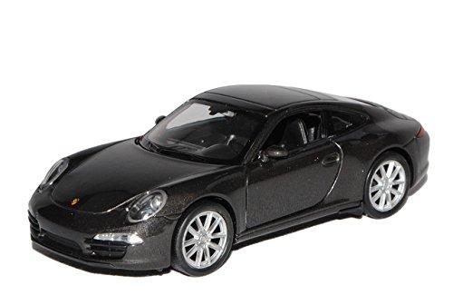 Welly Porsche 911 991 Carrera S Grau Schwarz Coupe Ab 2011 ca 1/43 1/36-1/46 Modell Auto mit individiuellem Wunschkennzeichen
