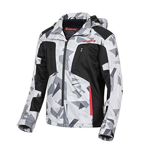 H-MetHlonsy Motorradjacke Männer Moto Jacke Motocross Kapuzenjacke Moto Schutz Breathable Body Armor JK99 L