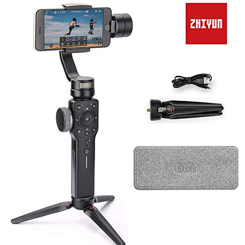 Zhiyun Smooth 4 Smartphone Stabilizer 3 Axis Handheld Gimbal Stabilizer for iPhone x 8 7 6plus Samsung Galaxy S8 Note 8 GoPro Hero 6 5 12 H Runtime((Smooth Q Upgrade Version 2018)