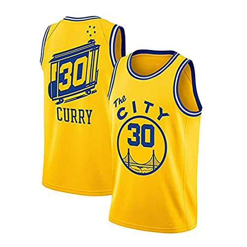 Camiseta de hombre Stephen Curry Golden State Warriors # 30 Camiseta de malla de uniforme de baloncesto Camiseta de edición de ciudad juvenil Camiseta deportiva de manga corta Camiseta superior,C,S