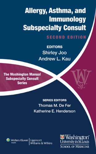 Compare Textbook Prices for The Washington Manual of Allergy, Asthma, and Immunology Subspecialty Consult The Washington Manual Subspecialty Consult Series Second Edition ISBN 9781451113679 by Joo MD, Shirley,Kau MD, Andrew