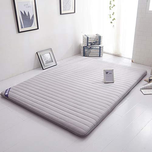 MFuton Single Tatami Bodenmatratze, Futon Matratzenauflage Boden Schlafen Pad Weich Japaner Faltbar Dick 100% Baumwolle-grau 150x200cm(59x79inch)