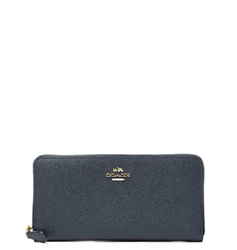 Luxury Fashion | Coach Dames 52372LIBHP Donkerblauw Leer Portemonnees | Seizoen Outlet