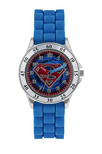 Superman Jungen Analog Quarz Uhr mit Gummi Armband SUP9227