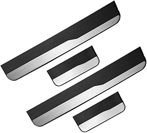 YAVEIL Fit for Honda Jazz 2015 2016 2017 2018 2019 Outside Stainless Car Steel Door Sill Kick Plate Guard Sills Protector Trim, 4 PCS.