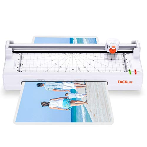 Laminator, A4 A5 A6 A7 Hot & Cold Laminator with Paper Controller, 4 in 1 Laminator Machine for Home Office, High Speed, Double Rollers, Corner Rounder, Cutter, 20 Laminator Pouches, TACKLIFE MTL02