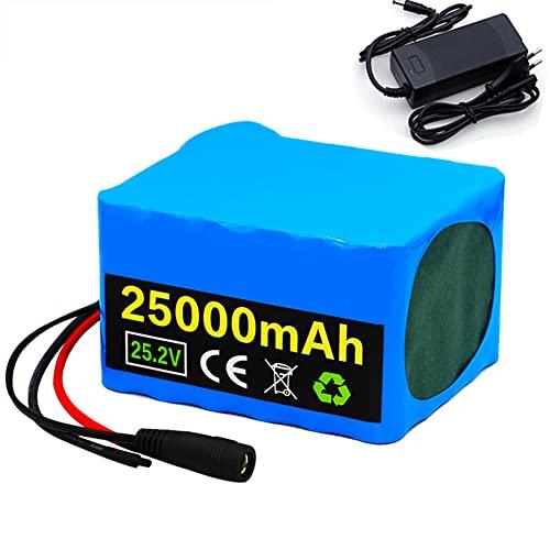Paquete Baterías Bicicletas Eléctricas 24V 25000mAh Paquete Celdas 25Ah para Motor 200W 350W Adecuado para Bicicletas Eléctricas Herramientas Eléctricas con Cargador BMS +