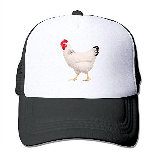 saletopk Würdevolle gehende Huhn-Ineinander greifen-Fernlastfahrer-Kappen/Hüte justierbar für Unisexschwarzes