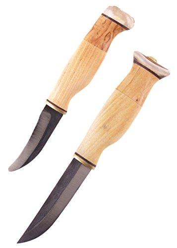 Finnenmesser - Wood-Jewel - 23AVKS Doppelmesser mit Skinner - Jagdmesser Messer Outdoor