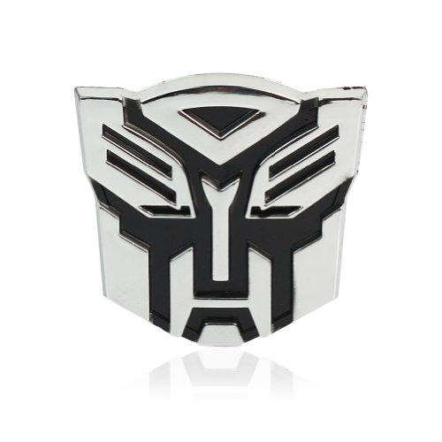 2X 3D Chrom Transformers Autobots Auto Aufkleber Sticker Emblem Motorrad Laptop