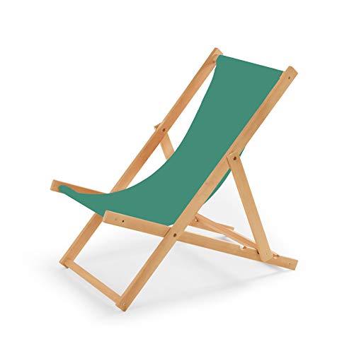 IMPWOOD Chaise longue de jardin en bois, fauteuil de relaxation, chaise de plage Türkis