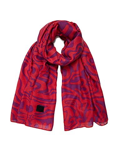 Desigual Womens Fou_Camiseta Fucsia Fashion Scarf, Red, U