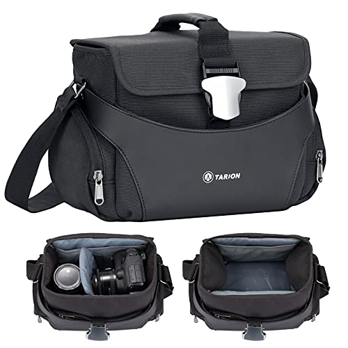 TARION TYS-S Bolso de Hombro para cámara Bolso pequeño para cámara Bolso de Mensajero para fotografía para cámaras SLR DSLR, Lentes, Accesorios