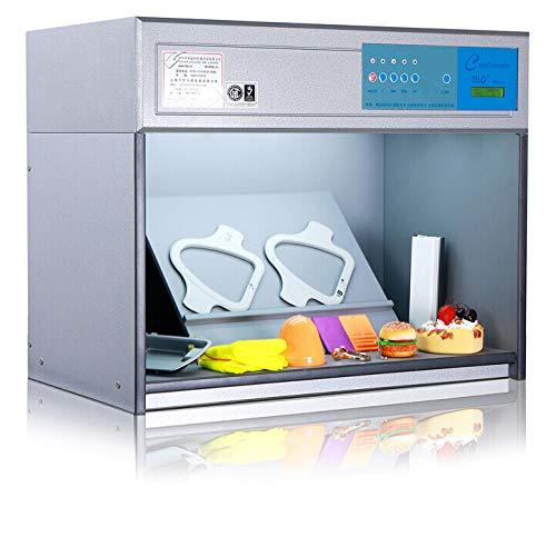 Huanyu Color Assessment Cabinet CAC Farbe Prüflampen Farbe Fassender Schrank für Textilien, Druck, Tinte, Chemikalien, Keramik, Schuhe Branche (220V, 4 Lichtquellen: D65, TL84, UV, F/A)