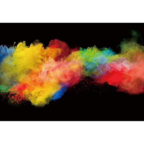 DORCEV 8x5ft Colorful Smoke Bombs for Photography Backdrop Watercolor Powder Colored for Baby Shower...