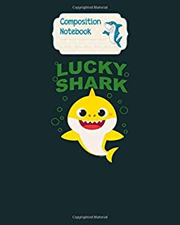 Composition Notebook: baby shark st patricks day lucky shark - for men woman Journal/Notebook Blank Lined Ruled 100 pages 8x10 inches