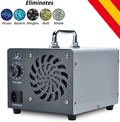 HORO.ES Generador de ozono Comercial, eliminador de olores, purificador de Aire de ozono Industrial, 10.000 MG/h, ionizador para Habitaciones, Humo, Coches y Mascotas - Blanco