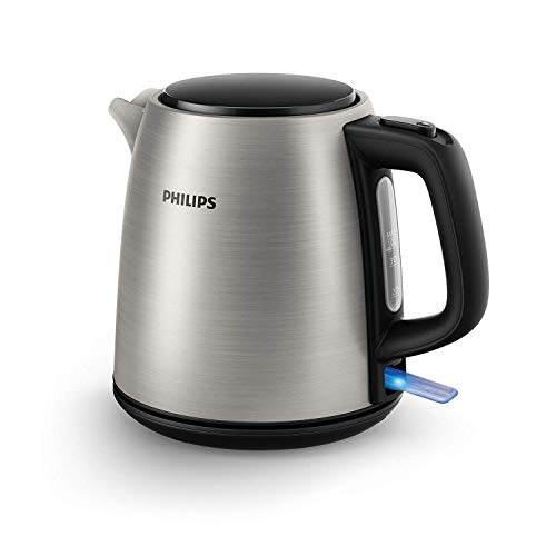 Philips HD9348/10 - Hervidor electrico, acero inoxidable, 1 L, 2000 W