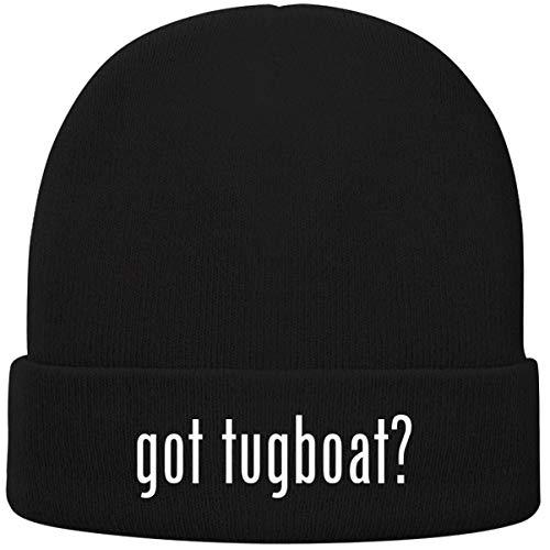 One Legging it Around got Tugboat? - Soft Adult Beanie Cap, Black