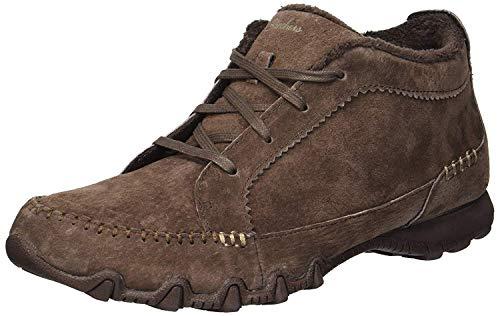 Skechers Women's Bikers-Lineage-Moc-Toe Lace-Up Chukka Boot, Chocolate, 8.5 M US