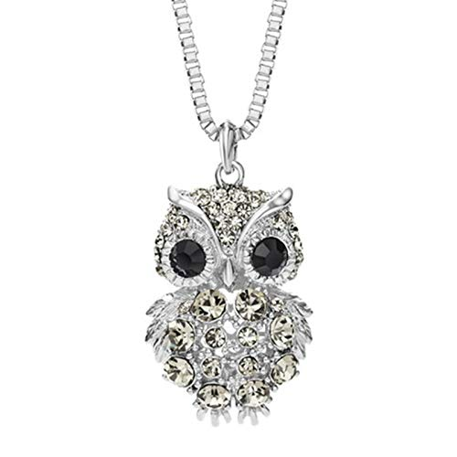 Bishilin Jewelry Owl Pendant Necklaces Alloy Silver Necklace Jewelry Gift for Women