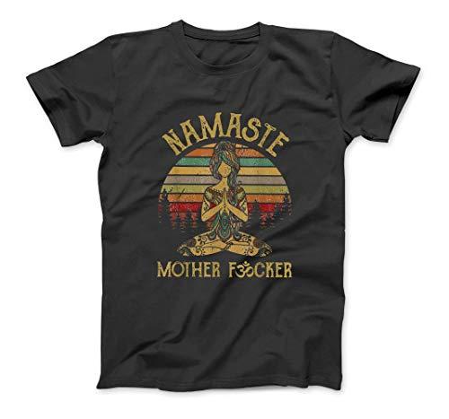 ELINELIN Namaste Mother Fucker Yoga Vintage Funny Gift Men Women Custom T-Shirt Sweatshirt Hoodie Tank Top For Men Women Kids