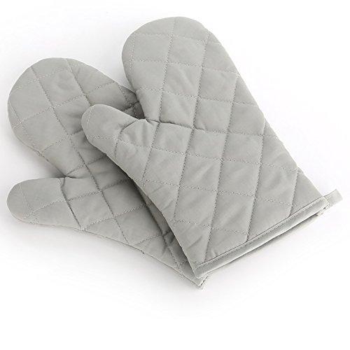 Backen Backofen Handschuhe spezielle Wärmedämmung und hitzebeständige Handschuhe, 1 Paar,grau