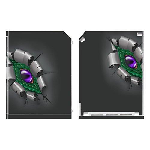 Disagu Design Skin für Nintendo Wii stehend Design Folie - Motiv Drachenauge -Grün