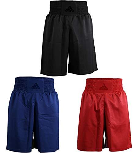 adidas Boxing Shorts Men Women Training Fight Gym Sparring Fitness Trunks Diamond Flex Pantalones Cortos de Boxeo para Hombre y Mujer, Rojo, Small