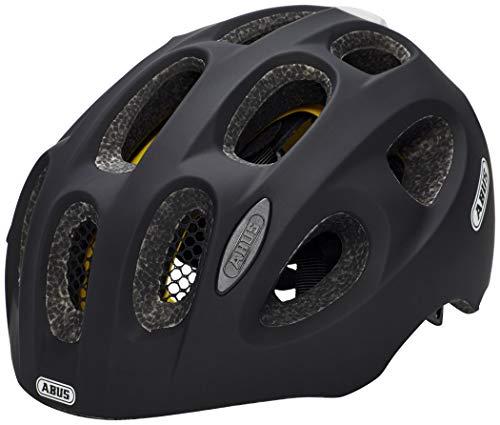 ABUS Youn-I MIPS Kinderhelm - Moderner Fahrradhelm für Kinder - für Mädchen und Jungen - 38812 - Schwarz Matt, Größe M
