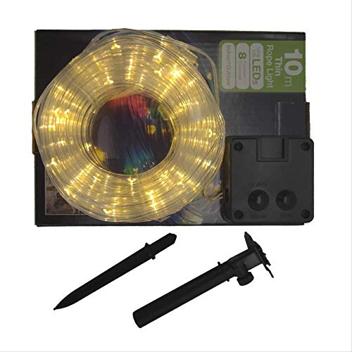 CFLFDC Led-lichtsnoer, gekleurde lampenkap, decoratief, 8 functies, 5 m, 50 lampen, 2 m lood, warm wit