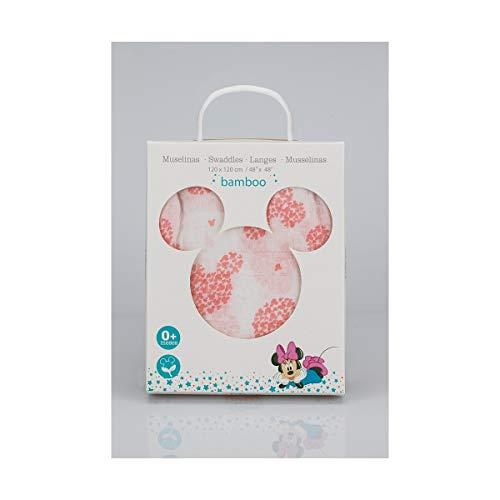 Interbaby Mn021 - Muselina Disney Minnie Mouse Original, Blanco Y Rosa
