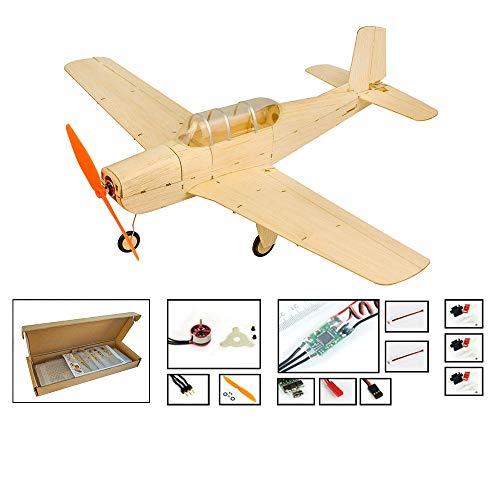 DW fun Viloga Mini Balsaholz Modellflugzeug Cessna L-19, 445mm Spannweite Lasergeschnittene Modellflugzeuge Kits zu Bauen (KIT + Motor + ESC + Servo)