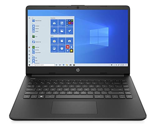 HP 14 Laptop, AMD 3020e, 4 GB RAM, 64 GB eMMC Storage, 14-inch HD Display with 6.5 mm Micro-Edge Bezel, Windows 10 Home in S Mode, Long Battery Life, Microsoft 365, (14-fq0020nr, 2020, Jet Black)