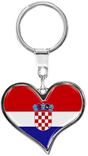 metALUm | Schlüsselanhänger Herz Metall Flagge Kroatien 6611059