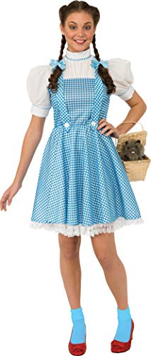 Rubie's Women's Wizard of Oz Dorothy Dress and Hair Bows, Blue/White, Large