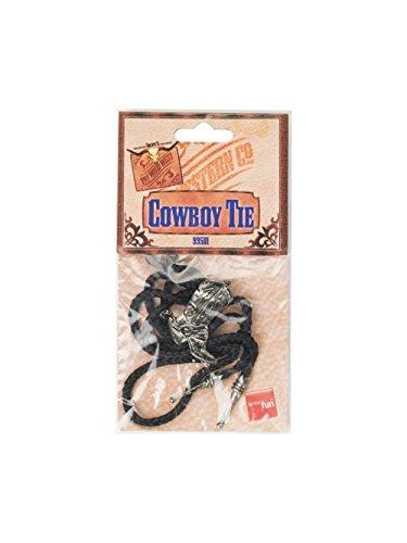 Aptafêtes - AC1966 - Cravate lacet cow-boy avec insigne Modèle Aléatoire