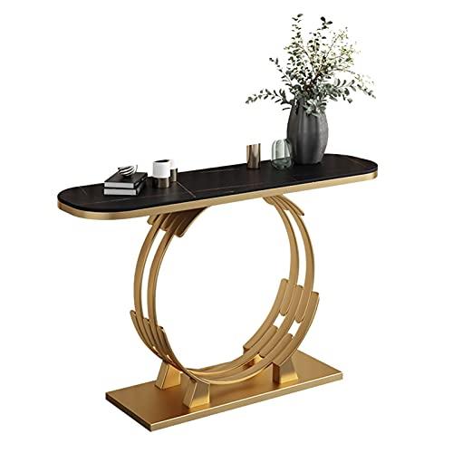 Axdwfd Mesa Auxiliar Mesa de Consola de Sala de Estar, Mesa de sofá de Metal, Mesa Estrecha de Roca, Mesa de Pared 31,4 × 11.8 × 31.4 Pulgadas Mesas de café