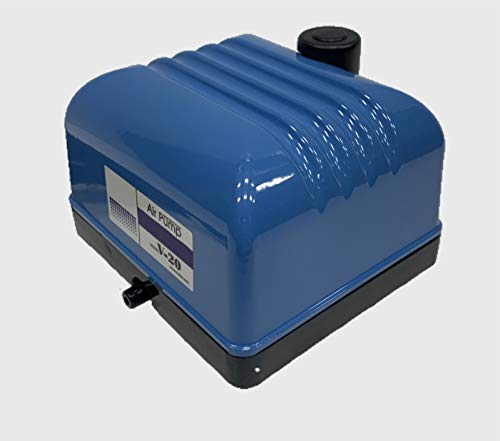 Blue Diamond Pumps V20 Aquarium Air Pump with 4 Outlet Manifold, Hydroponic Air Pump Aerator Will Oxygenate Your Fish Tank or Plant Life System, Designed to Run Several Air Stones from a Single Pump