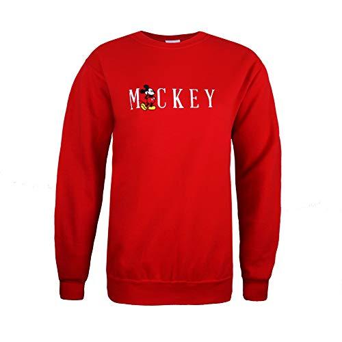Disney Mickey Mouse Title Sudadera, Rojo Red, 38 (Talla del Fabricante: Small)...