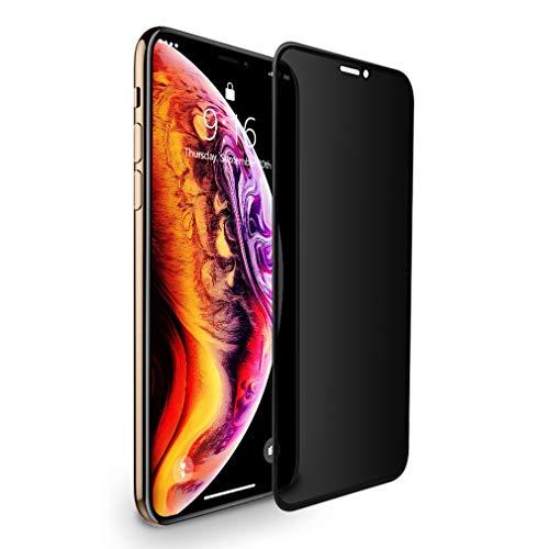 BENKS iPhone XS/iPhone X/iPhone 11 Pro Panzerglas Schutzfolie Privacy Anti Spion Dunkel Folie Vollbild Blasenfrei Abdeckung Sichtschutzfolie Displayschutzfolie für iPhone X/Xs/11 Pro 5,8